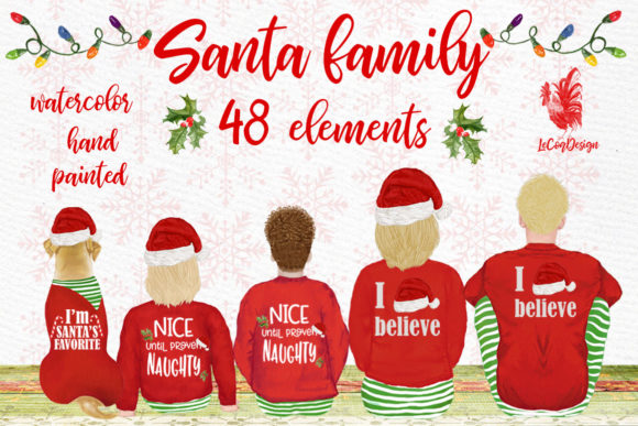 Christmas Family Clipart Graphic Illustrations By LeCoqDesign