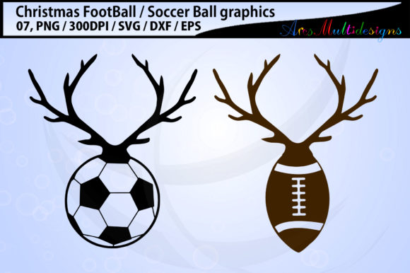 Print on Demand: Christmas Football Soccerball Graphic Illustrations By Arcs Multidesigns - Image 2