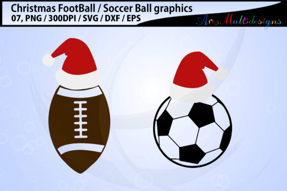 Print on Demand: Christmas Football Soccerball Graphic Illustrations By Arcs Multidesigns - Image 3
