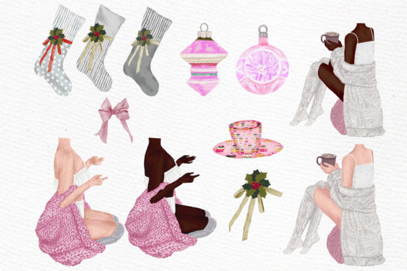 Christmas Girls Clipart Graphic Illustrations By LeCoqDesign - Image 2