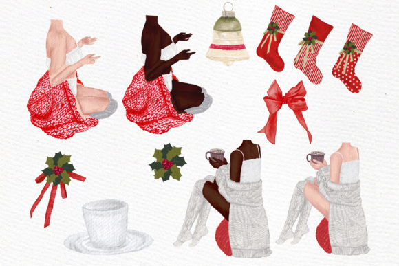 Christmas Girls Clipart Graphic By LeCoqDesign Image 2