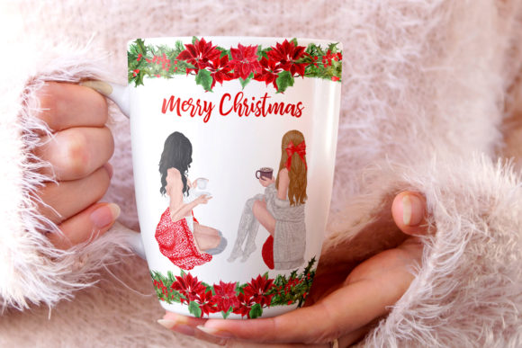 Christmas Girls Clipart Graphic By LeCoqDesign Image 6