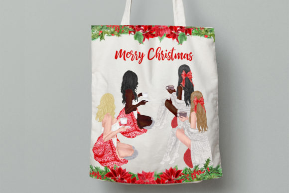 Christmas Girls Clipart Graphic By LeCoqDesign Image 9