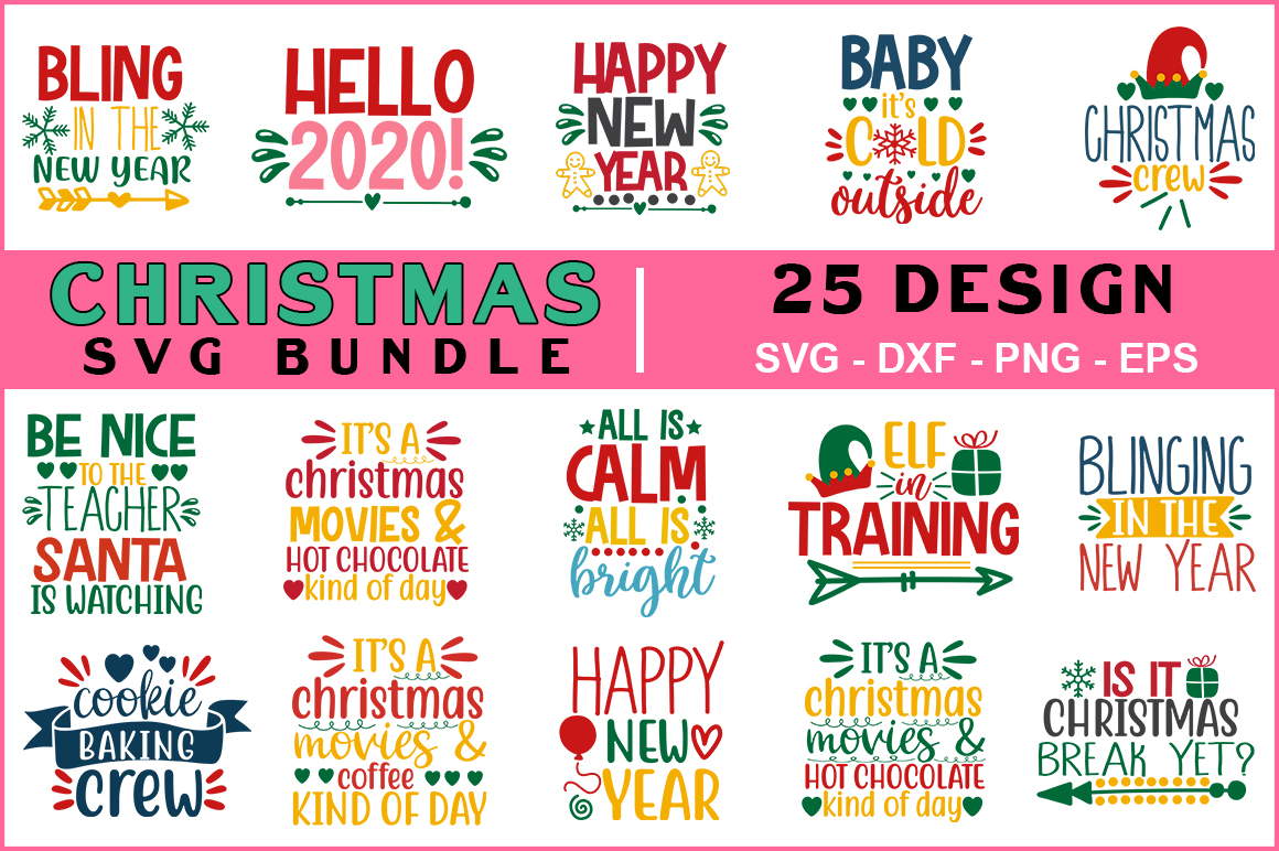 Download Free Christmas Bundle Graphic By Red Box Creative Fabrica for Cricut Explore, Silhouette and other cutting machines.