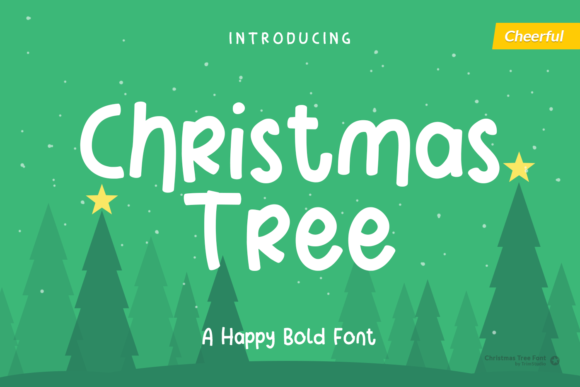 Print on Demand: Christmas Tree Display Font By Trim Studio
