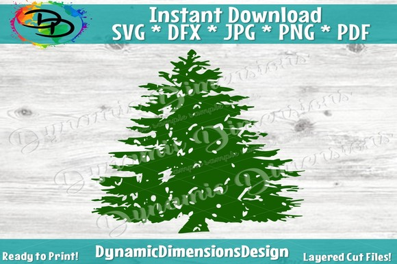 Download Free Christmas Tree Design Graphic By Dynamicdimensions Creative for Cricut Explore, Silhouette and other cutting machines.