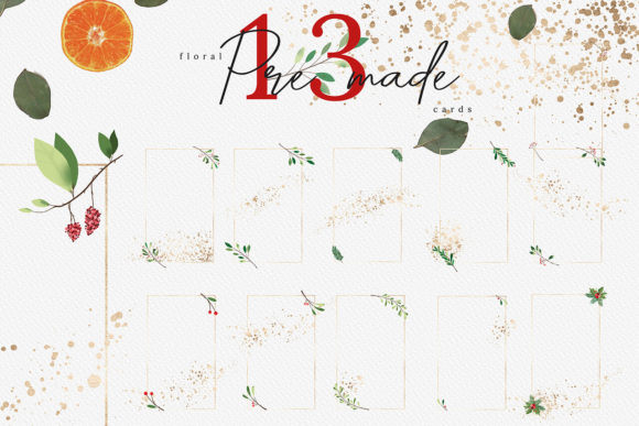 Christmas Watercolor Cards Collection 03 Graphic By 3Motional Image 2