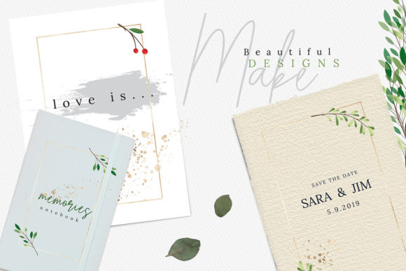 Print on Demand: Christmas Watercolor Cards Collection 03 Graphic Print Templates By 3Motional - Image 3