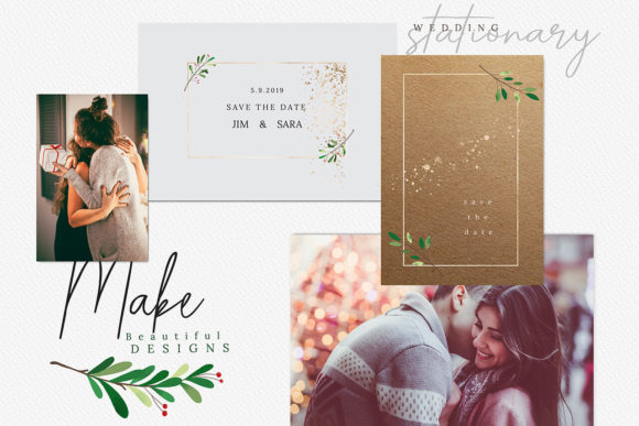 Print on Demand: Christmas Watercolor Cards Collection 03 Graphic Print Templates By 3Motional - Image 7