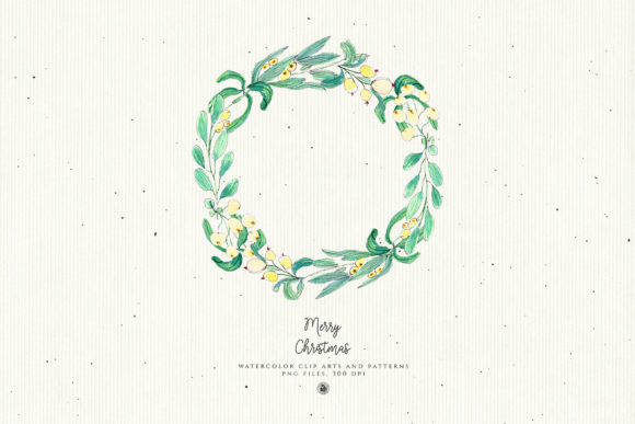 Christmas Watercolor Decorations Graphic Illustrations By webvilla - Image 4