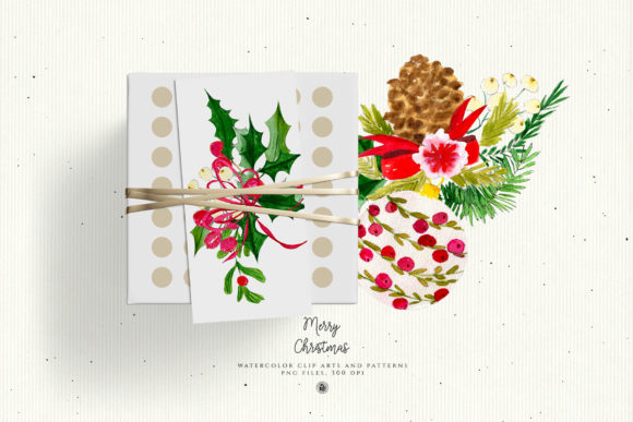 Christmas Watercolor Decorations Graphic Illustrations By webvilla - Image 5