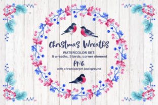 Christmas Wreaths Watercolor Cliparts Graphic By Olga Belova