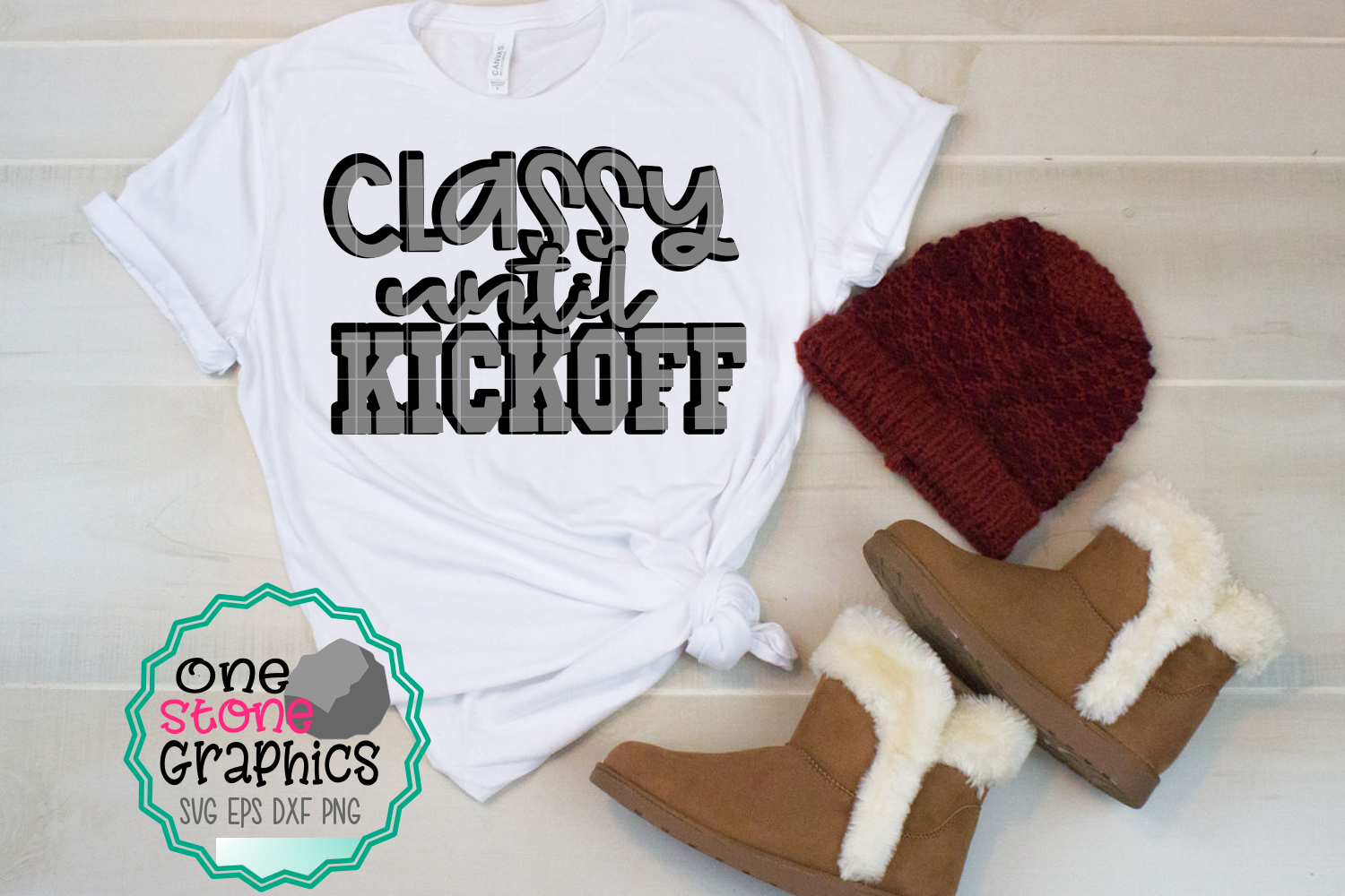 Download Free Classy Until Kickoff Graphic By Onestonegraphics Creative Fabrica for Cricut Explore, Silhouette and other cutting machines.