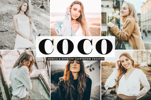 Print on Demand: Coco Mobile & Desktop Lightroom Presets Graphic Actions & Presets By Creative Tacos