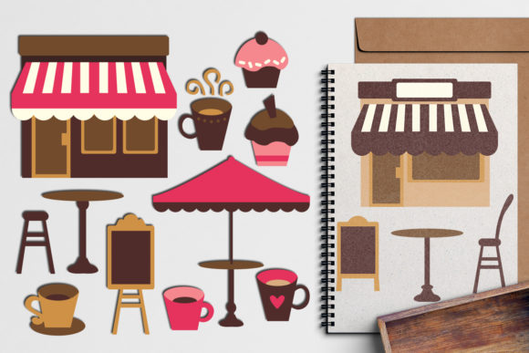 Print on Demand: Coffee Shop Cafe Graphic Illustrations By Revidevi