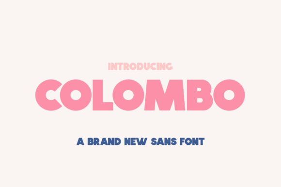 Print on Demand: Colombo Sans Serif Font By Salt & Pepper Designs