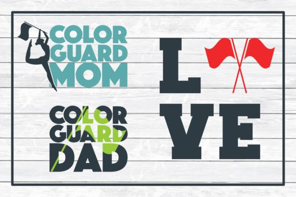 Color Guard Design Bundle Svg Cut Files Graphic By