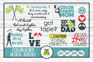 Color Guard Design Bundle, SVG Cut Files Graphic By funkyfrogcreativedesigns