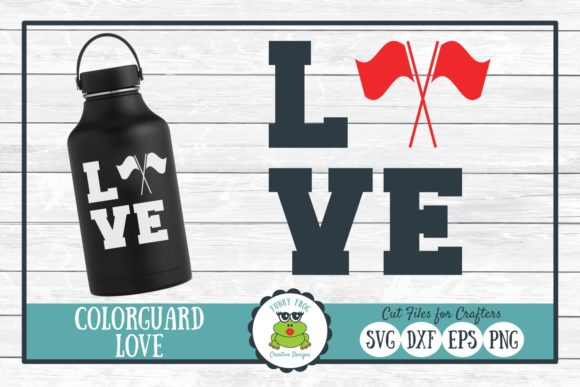 Download Free Color Guard Love Graphic By Funkyfrogcreativedesigns Creative for Cricut Explore, Silhouette and other cutting machines.
