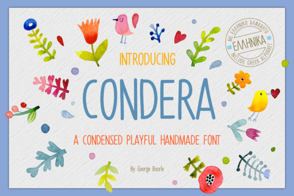 Print on Demand: Condera Display Font By georgebourle