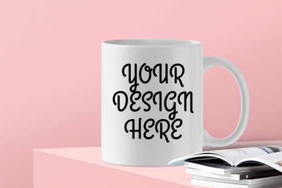 Print on Demand: Cool White Mug Mock-Up - PNG Graphic Product Mockups By Mockup Venue - Image 1