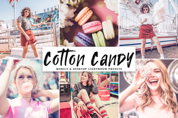 Print on Demand: Cotton Candy Lightroom Presets Pack Graphic Actions & Presets By Creative Tacos