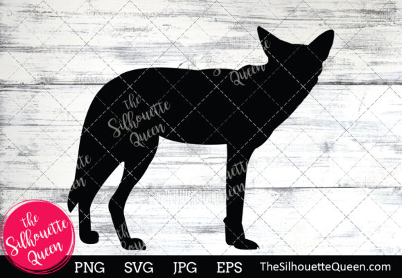 Download Free Coyote Silhouette Graphic By Thesilhouettequeenshop Creative for Cricut Explore, Silhouette and other cutting machines.