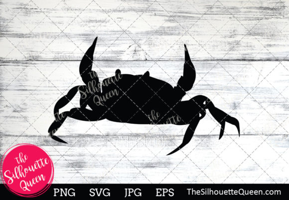 Download Free Crab Silhouette Graphic By Thesilhouettequeenshop Creative Fabrica for Cricut Explore, Silhouette and other cutting machines.