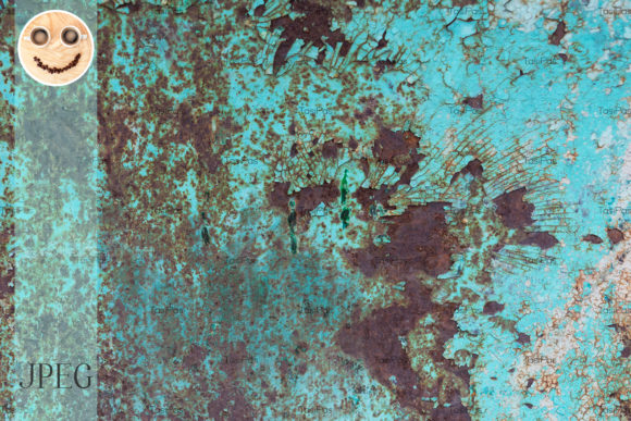 Print on Demand: Cracked Paint and Rusted Metal Texture Graphic Industrial By TasiPas