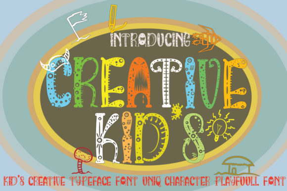 Print on Demand: Creative Kids Display Font By jehansyah251 - Image 3
