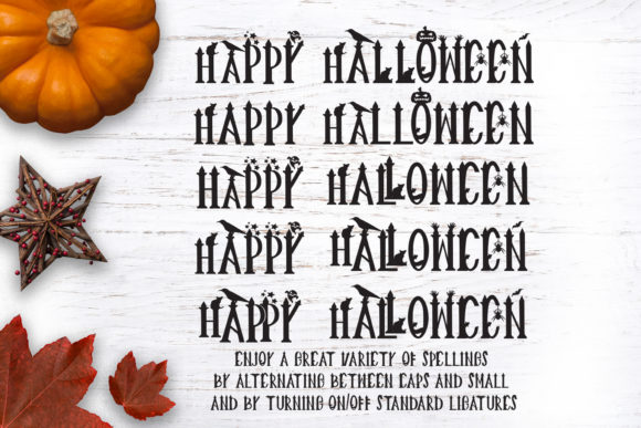 Print on Demand: Creepy Halloween Witches Display Font By GraphicHouseDesign - Image 3