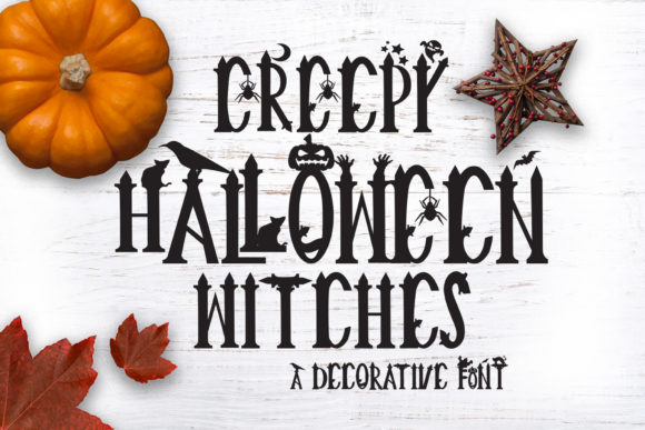Download Free Creepy Halloween Witches Font By Graphichousedesign Creative for Cricut Explore, Silhouette and other cutting machines.