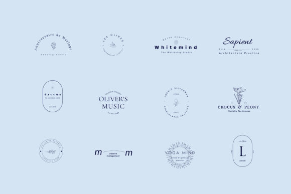 Print on Demand: Crocus Pre-made Logo Set of 24 Logos Graphic Logos By Primafox Design - Image 4