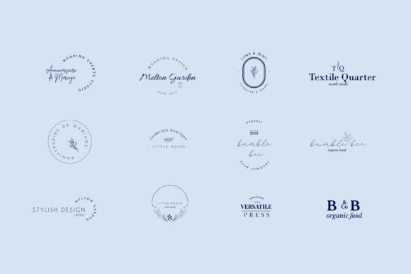 Crocus Pre-made Logo Set of 24 Logos Graphic Preview