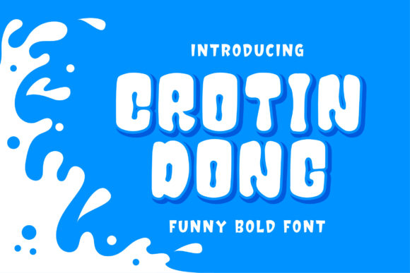 Print on Demand: Crotin Dong Display Font By Bangkit Setiadi