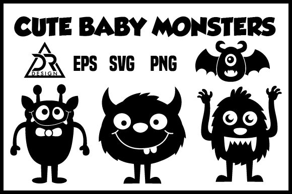 Print on Demand: Cute Baby Monsters Graphic Illustrations By davidrockdesign