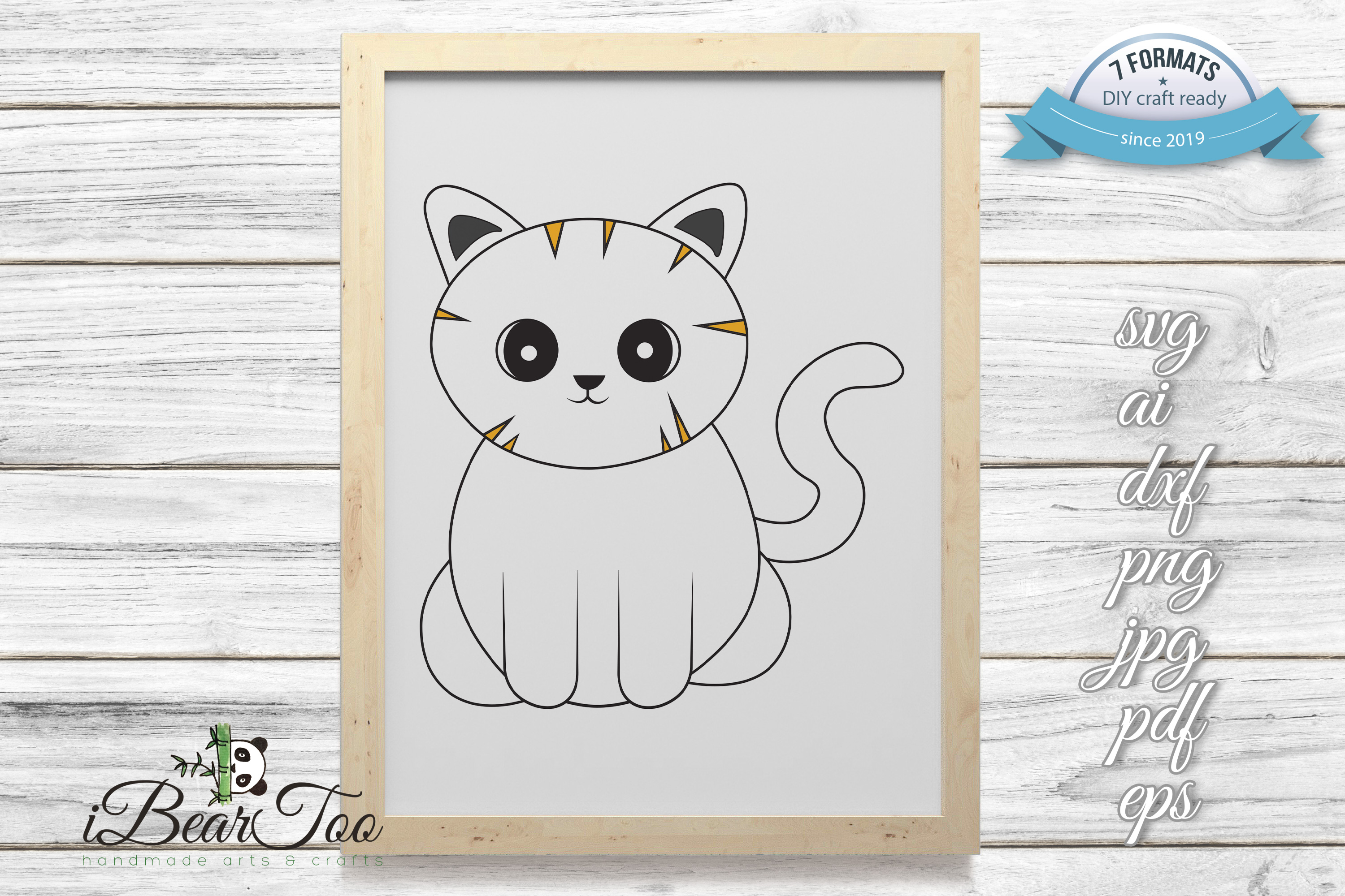 Download Free Cute Cat Cat Clipart Kitten Vector Graphic By Ibeartoo for Cricut Explore, Silhouette and other cutting machines.