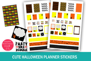 Cute Halloween Planner Stickers Graphic By Happy Printables Club