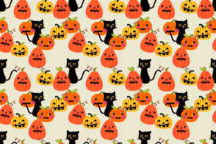 Download Free Cute Halloween Pumpkin And Black Cat Grafico Por Thanaporn Pinp for Cricut Explore, Silhouette and other cutting machines.