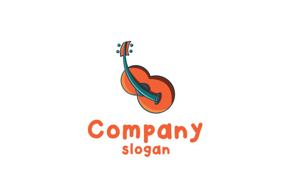 Download Free Cute Modern Guitar Logo Graphic By Valency Studio Creative Fabrica for Cricut Explore, Silhouette and other cutting machines.