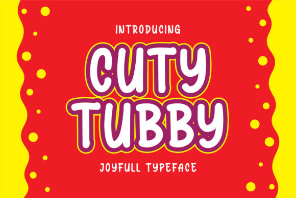 Print on Demand: Cuty Tubby Script & Handwritten Font By Blankids Studio