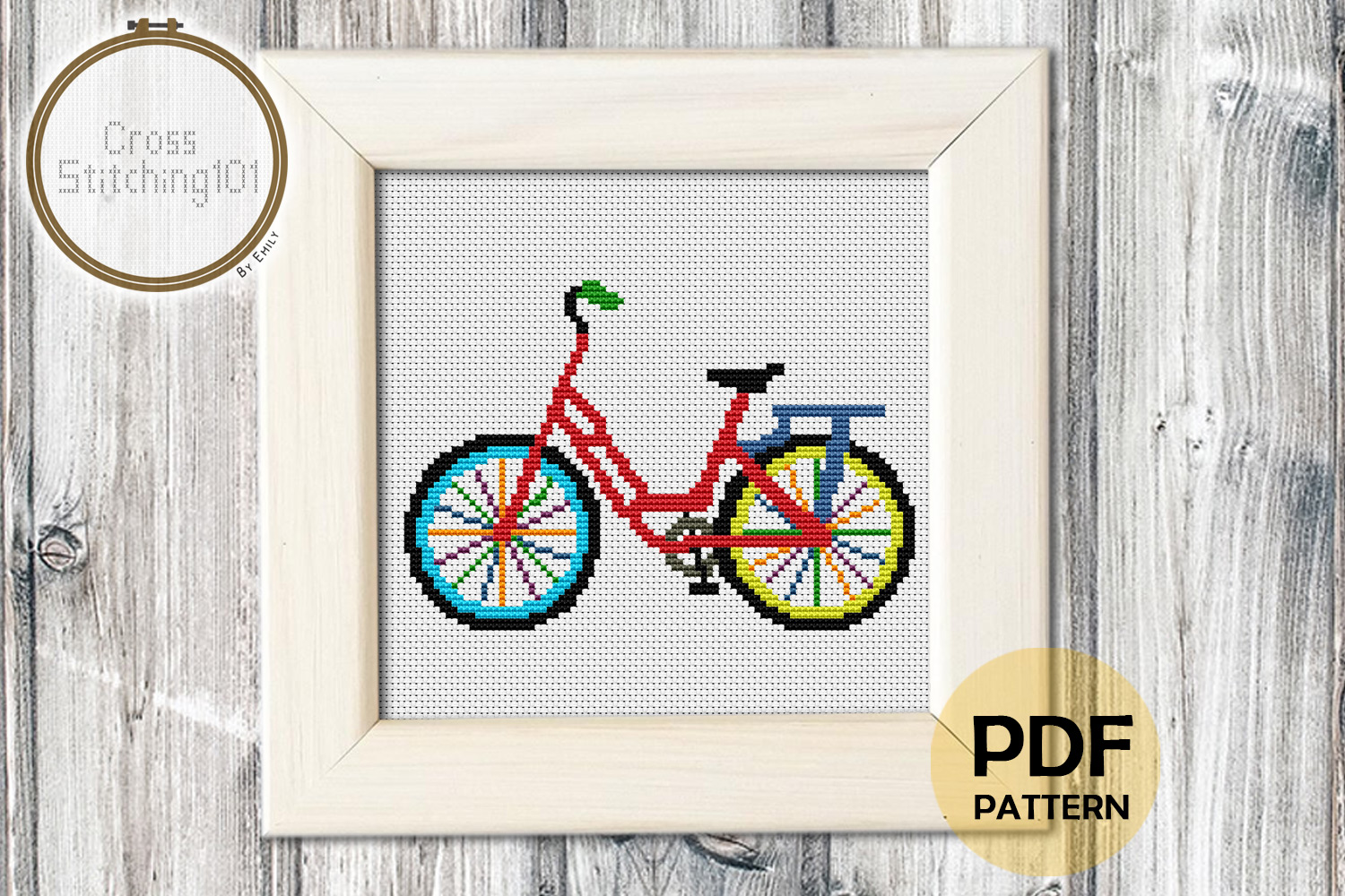 Download Free Cycle Modern Cross Stitch Pattern Graphic By Crossstitching101 for Cricut Explore, Silhouette and other cutting machines.