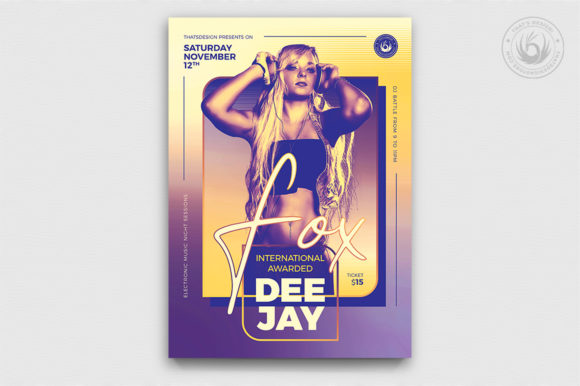 DJ Session Flyer Template V9 Graphic By ThatsDesignStore