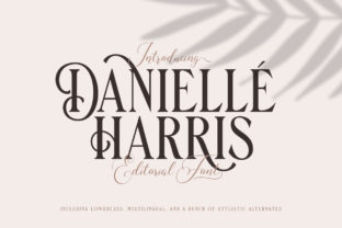 Print on Demand: Danielle Harris Display Font By letterhend
