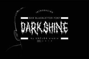 Print on Demand: Darkshine Blackletter Font By Unflea Studio