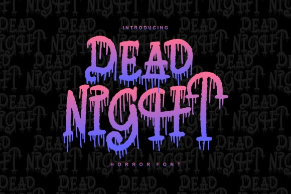 Print on Demand: Dead Night Serif Font By Vunira