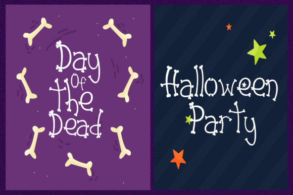 Print on Demand: Dead Skull Display Font By dmletter31 - Image 5