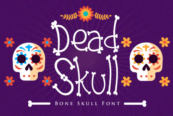 Dead Skull Display Font By dmletter31