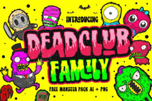 Deadclub Family Display Font By 160 Studio