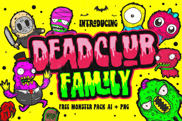 Print on Demand: Deadclub Family Display Font By 160 Studio